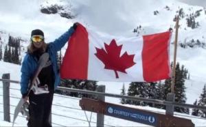 Snowboarding in Whistler, British Columbia Canada