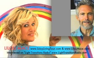 Lilou interviewed on Light Transitions Radio by Robert Davis
