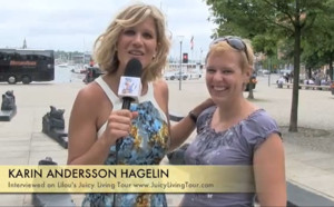 Karin Andersson Hagelin & Lilou in Stockholm on the tour!