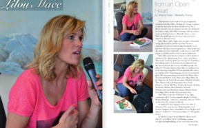 Magazine interview of Lilou on THE JOY OF LIVING FROM AN OPEN HEART (10 pages)