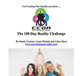 The 100-Day Reality Challenge e-Workbook (130 pages) ON SALE